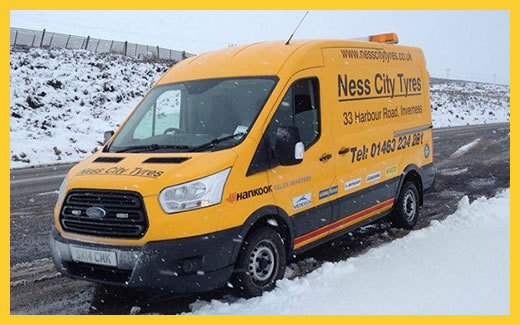 Ness City Tyres Van